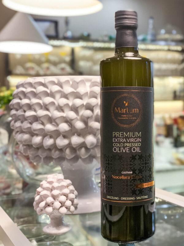 Martum 0,75l olive oil bottle in dark glass